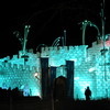 Photo: Ice castle at night