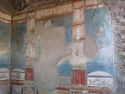 Photo house of the wild boar casa della caccia antica for Planimetrie della casa antica