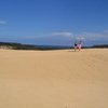 Photo: Walking across sand dunes