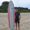 Photo: Ger with surfboard
