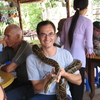 Photo: Gerald with python