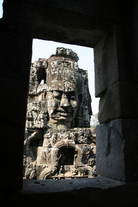 Photo: Framed face-tower