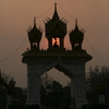 Photo: Gate at sunset