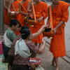 Photo: Monks collecting alms