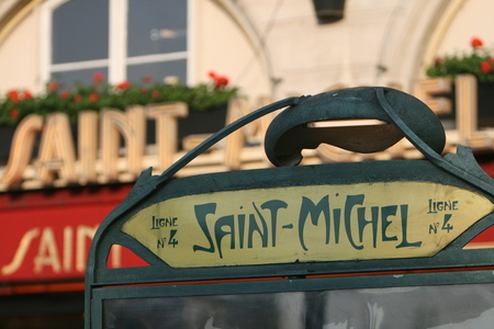 photo saint michel metro sign. Black Bedroom Furniture Sets. Home Design Ideas