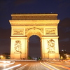 Photo: Arc de Triomphe headlights
