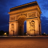 Photo: Arc de Triomphe dusk