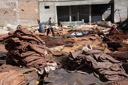Photo: Leather tannery