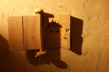 Photo: Wooden power outlet