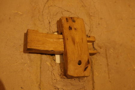 Photo: Wooden lightswitch