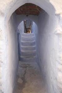 Photo: Whitewashed corridor